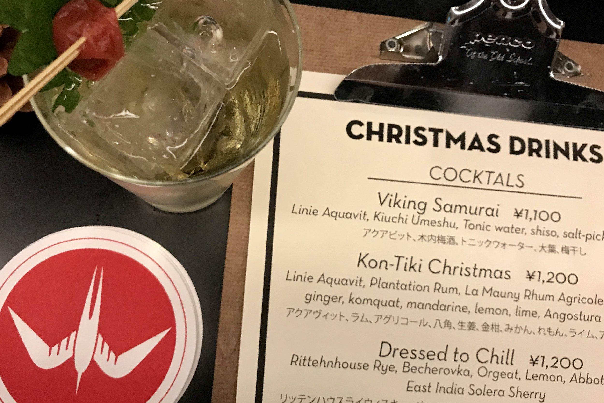 Christmas Drinks prepared by Fuglen Asakusa
