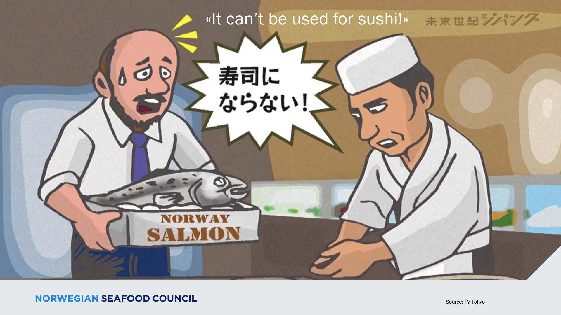 Making Norwegian salmon sushi popular in Japan was a long process. Source: NSC