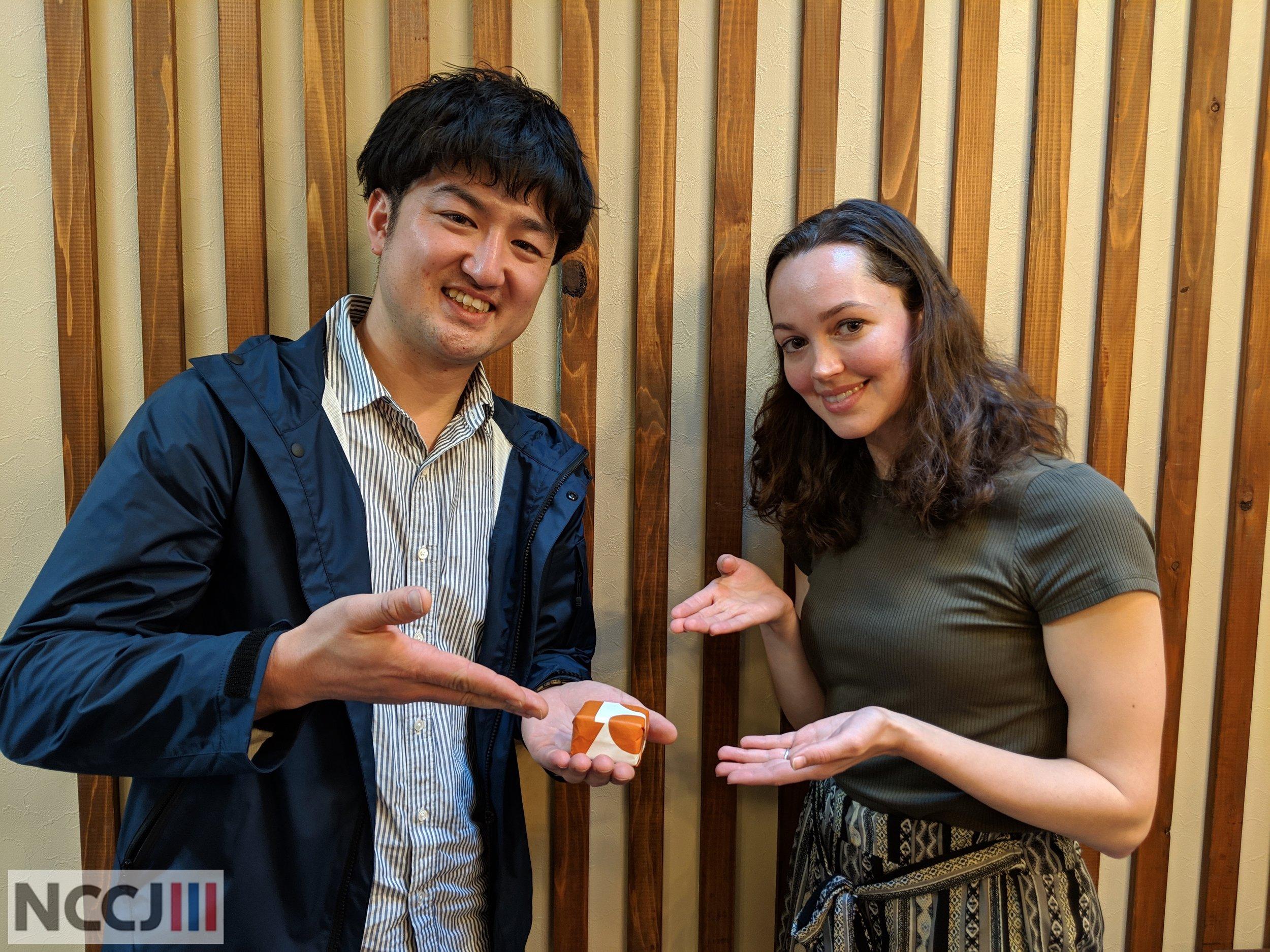 Mr. Nakashima with NCCJ ED Anette Yamamoto-Hansen