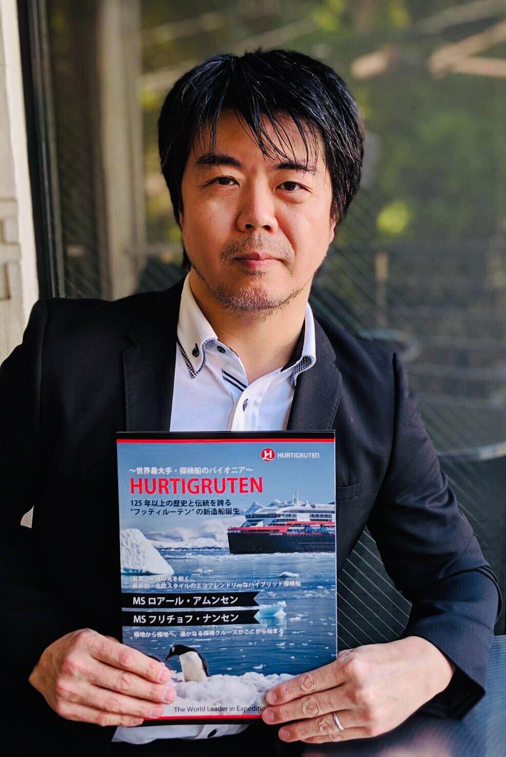 Hurtigruten's Japan-representative, Kengo Kuno