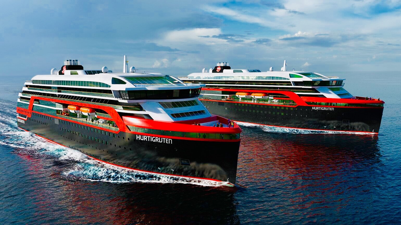 Hurtigruten's new vessels are named after the famous Norwegian explorers Amundsen and Nansen