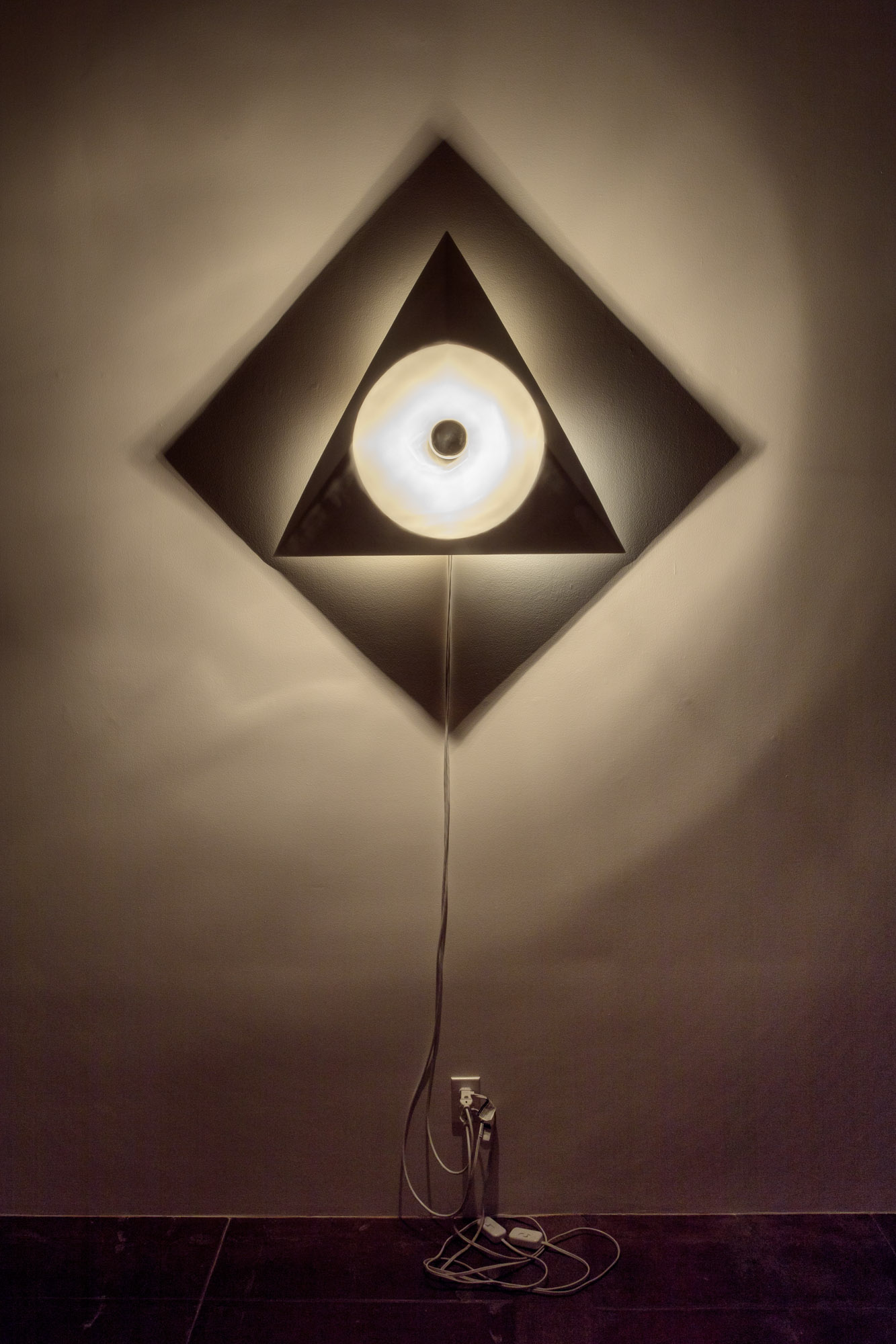 "Circle Triangle Square: Object Size: 32"" x 48"" / Shadow Size: 53""x 53"""