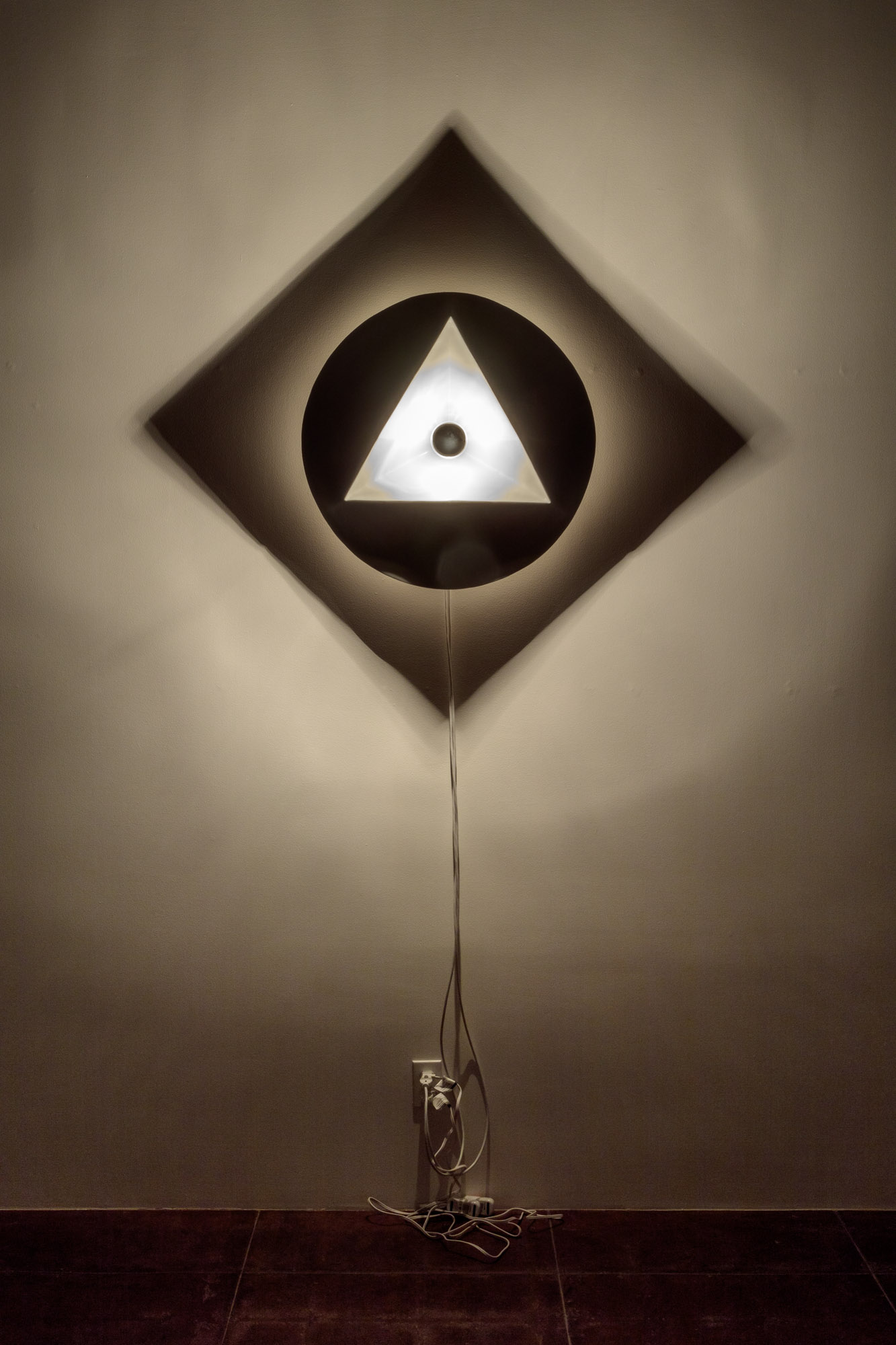 """Triangle Circle Square: Object Size: 26"""" round / Shadow Size: 53""""x 53"""""""