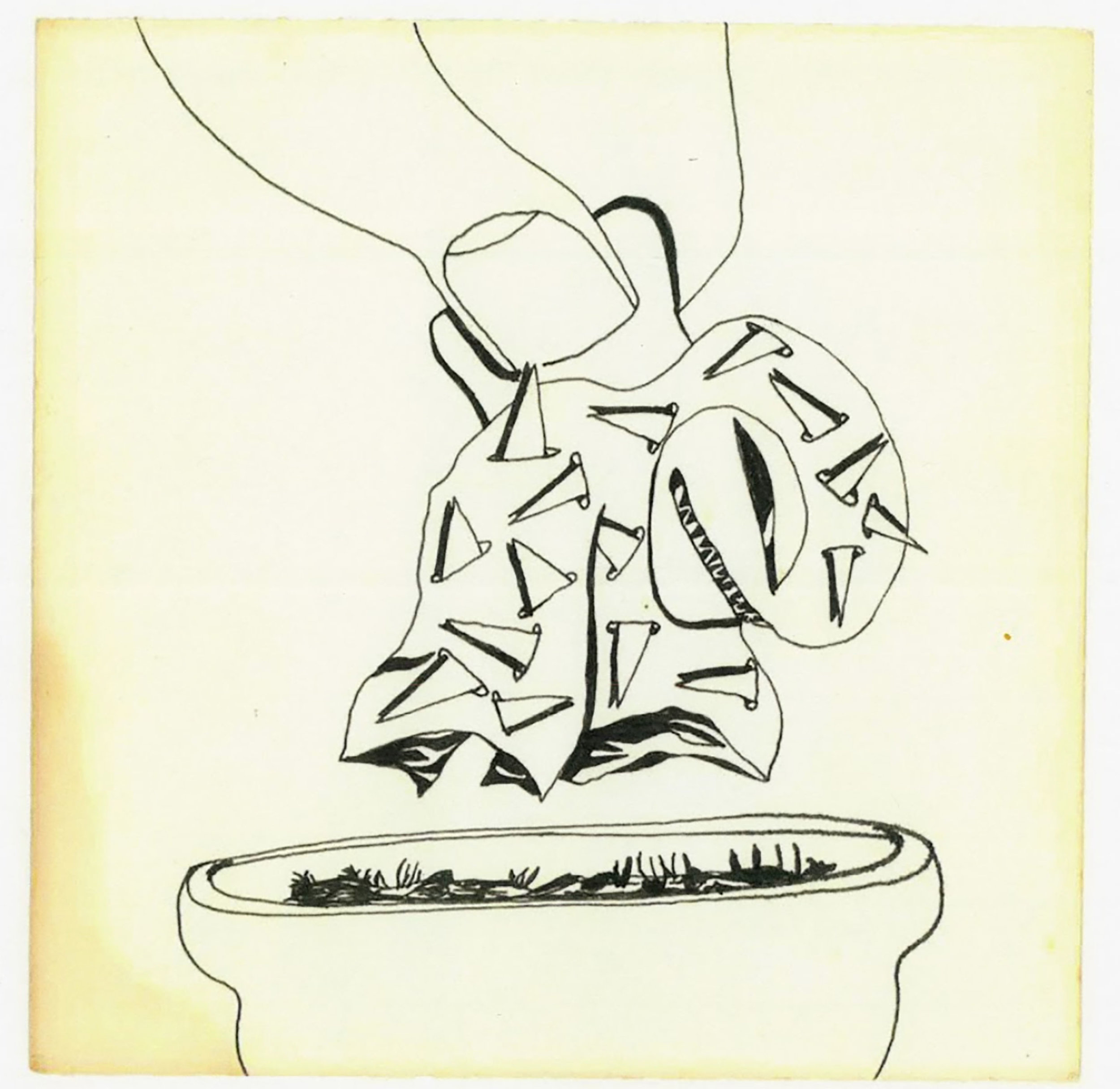 """Philip Rich, Untitled #4, ink on paper, 6"""" x 6,"""" 1965-1967"""