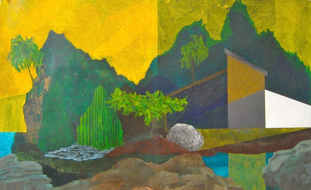 """Islander  2011-2012  acrylic on paper  14""""H x 22""""W"""