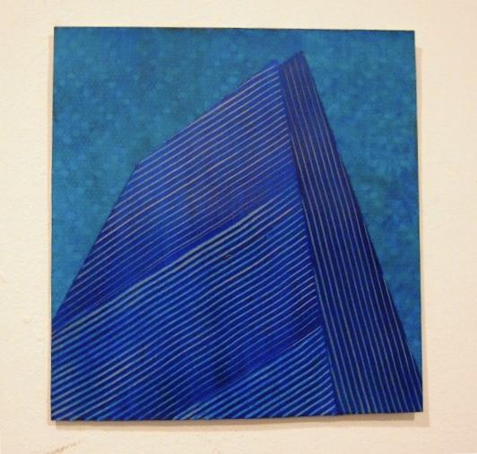 "Meier Building  2010  acrylic on paper  6.25""H x 5.75""W"