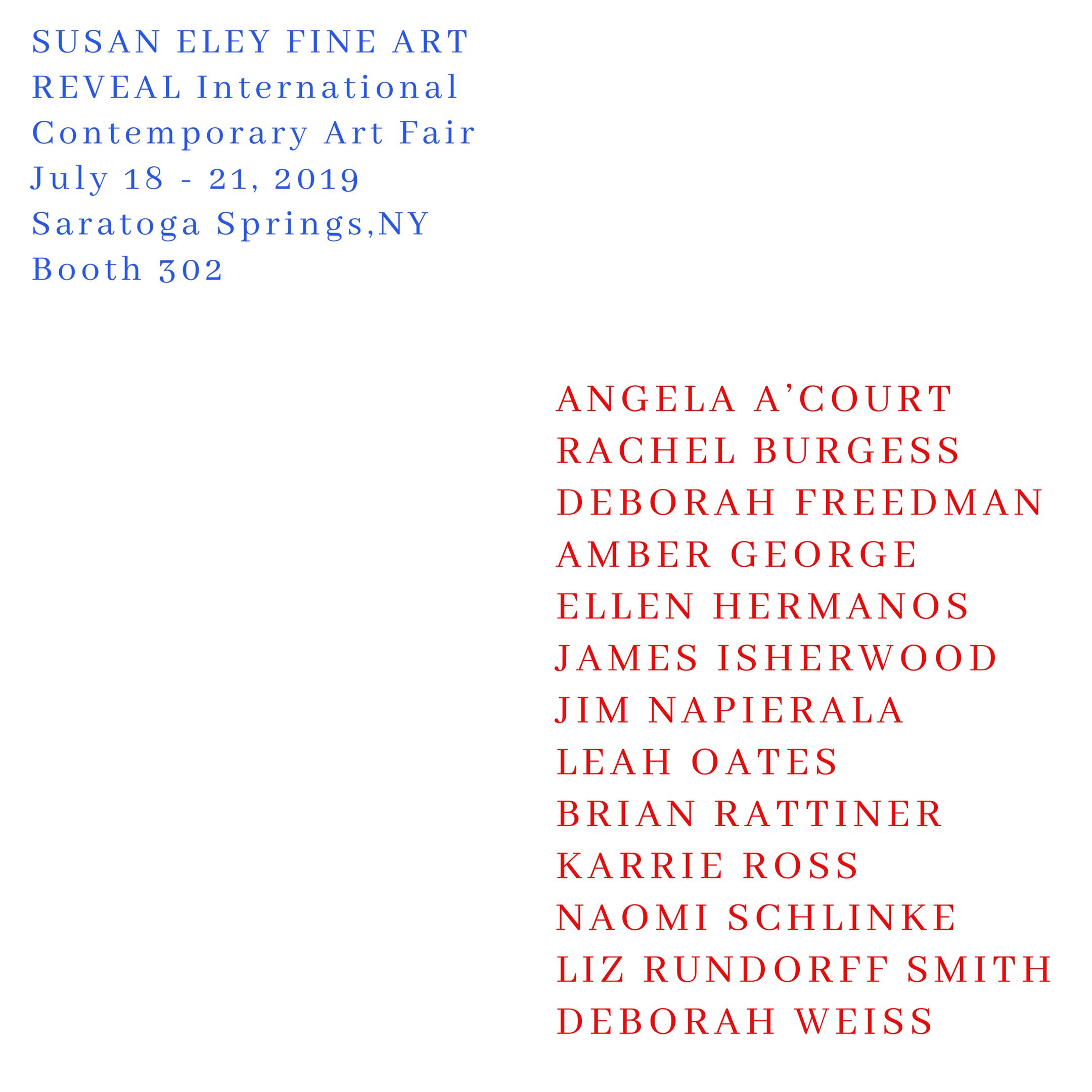 Susan Eley Fine Art    July 18-21, 2019