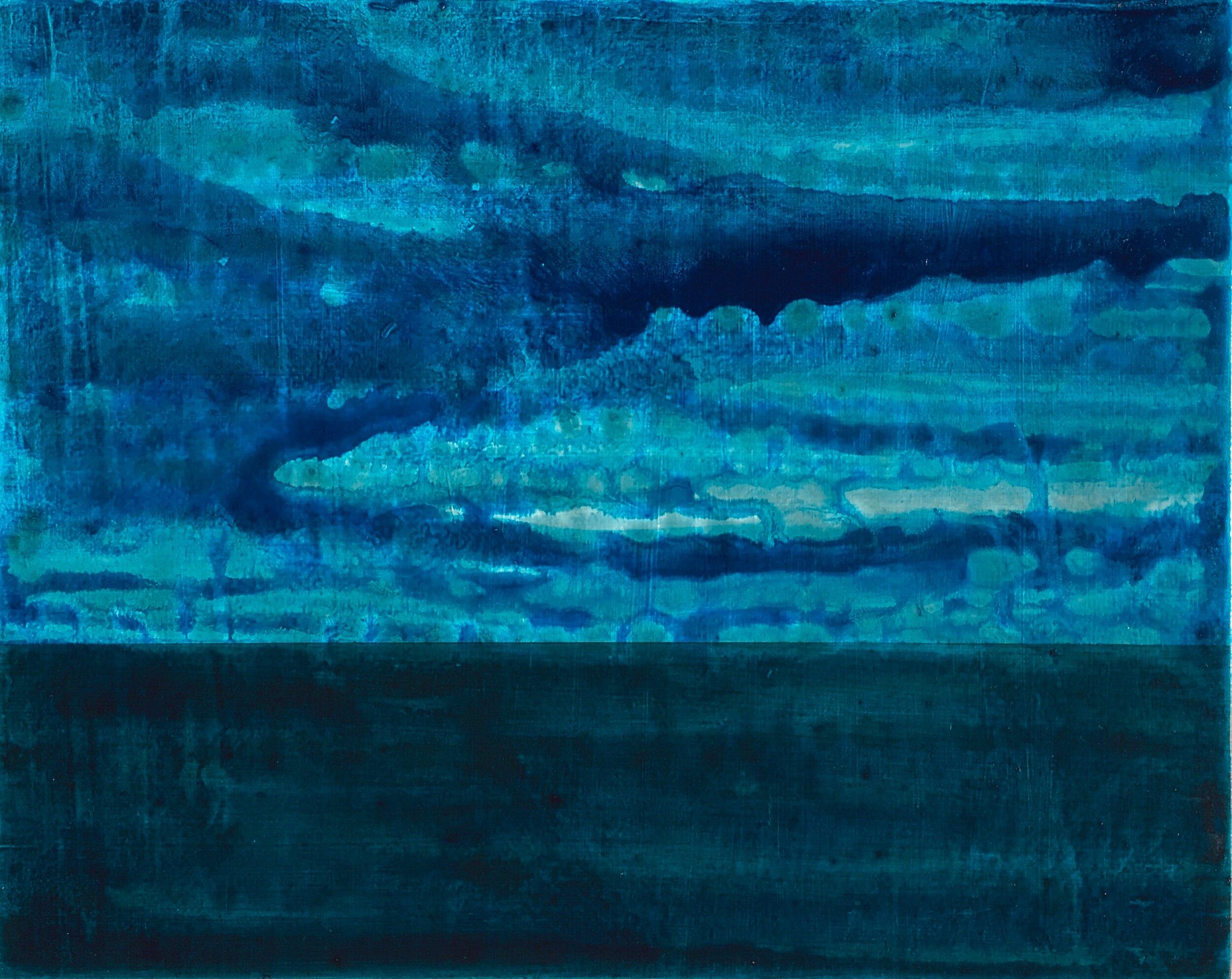 "The Sea  2019  acrylic on panel  8""H x 10""W"