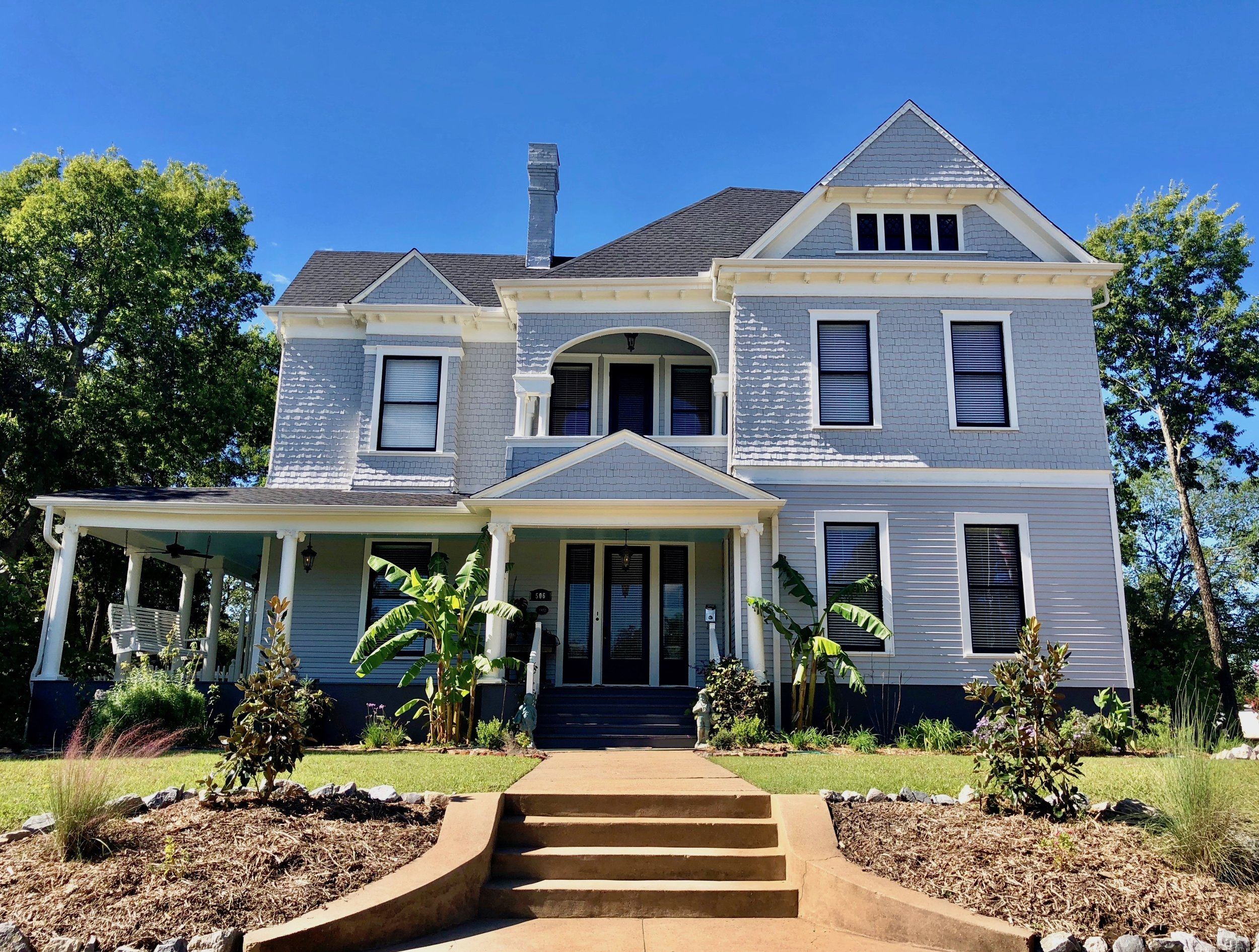 """The fully restored """"Brown-Tuck House"""" an American Whisky Baron's Mansion, built 1902 with ties to Jack Daniels is THE GRAND HOUSE — SHERMAN TEXAS"""