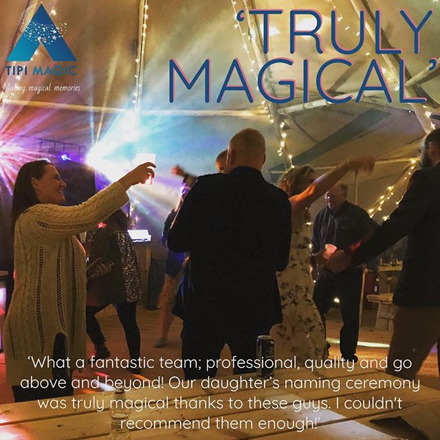 'TRULY MAGICAL' 'What a fantastic team; professional, quality and go above and beyond! Our daughter's naming ceremony was truly magical thanks to these guys. I couldn't recommend them enough!' #tipi #weddingsandevents #namingceremony #tipihire #wrexham #fantasticteam #professional #quality #aboveandbeyond #magical #namingceremony