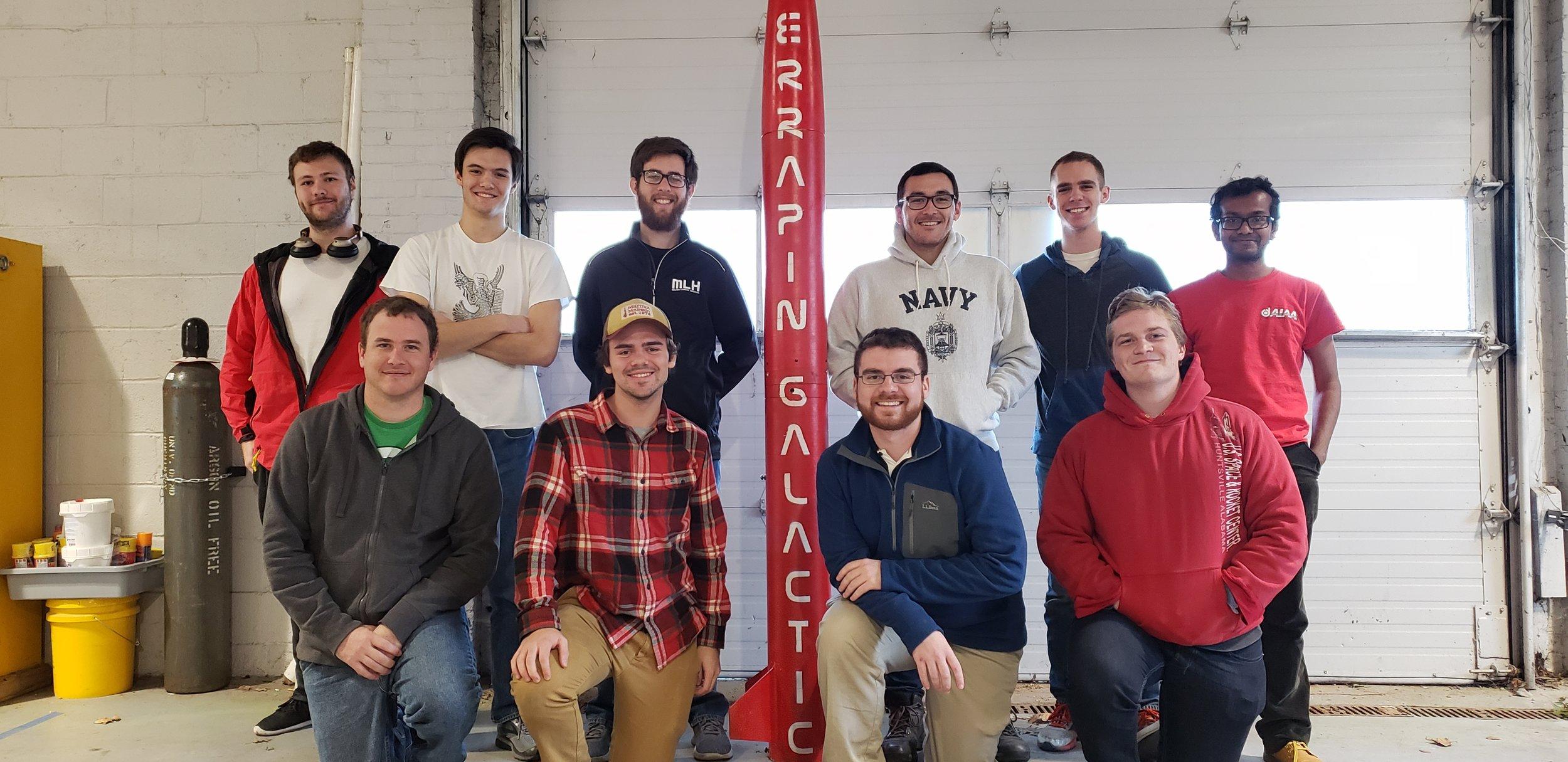 (Back: Colin, Kyle, Justin, Ben, Matt, Abhishek)  (Front: Eliott, Adam, John, Theo) (Missing: Ryland, Dan)
