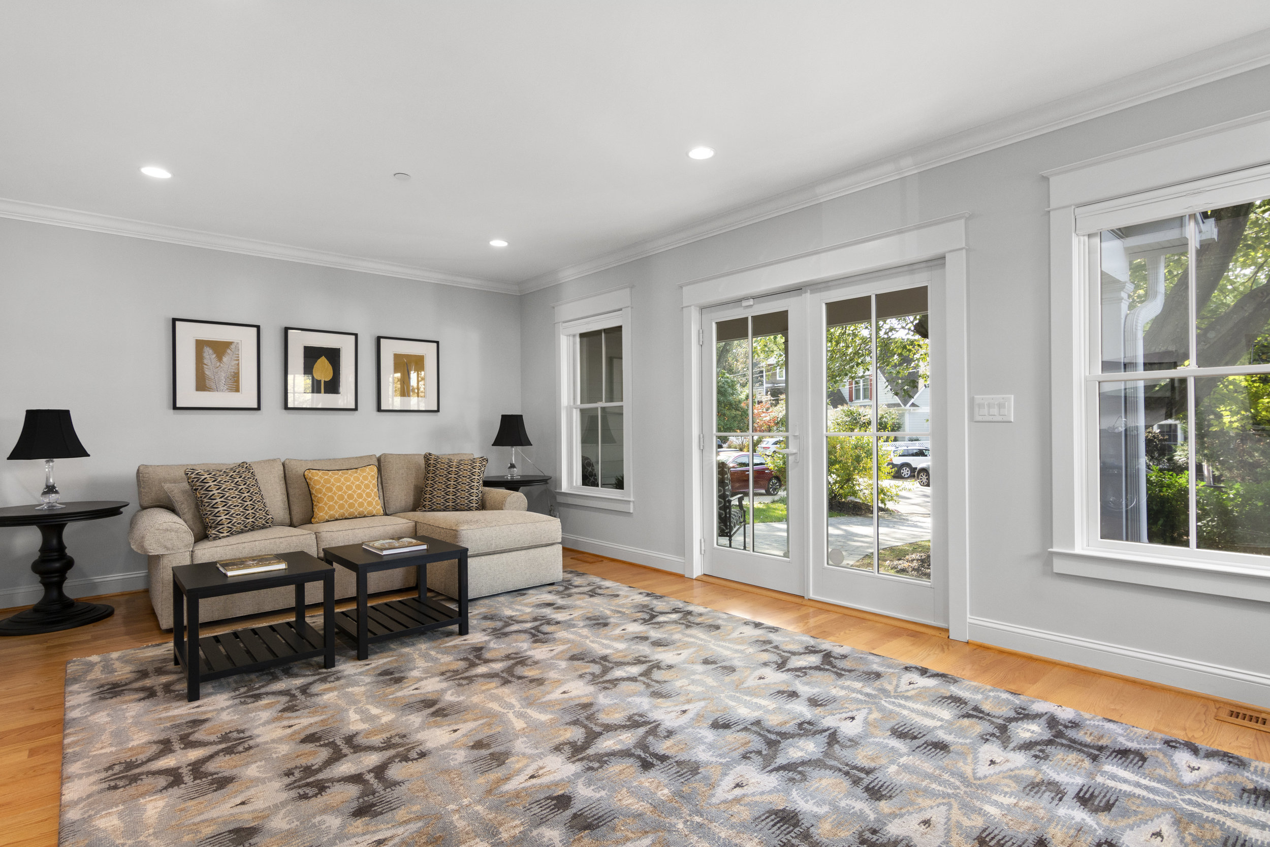The expansive family room of 204 Lockwood Court in Annapolis.