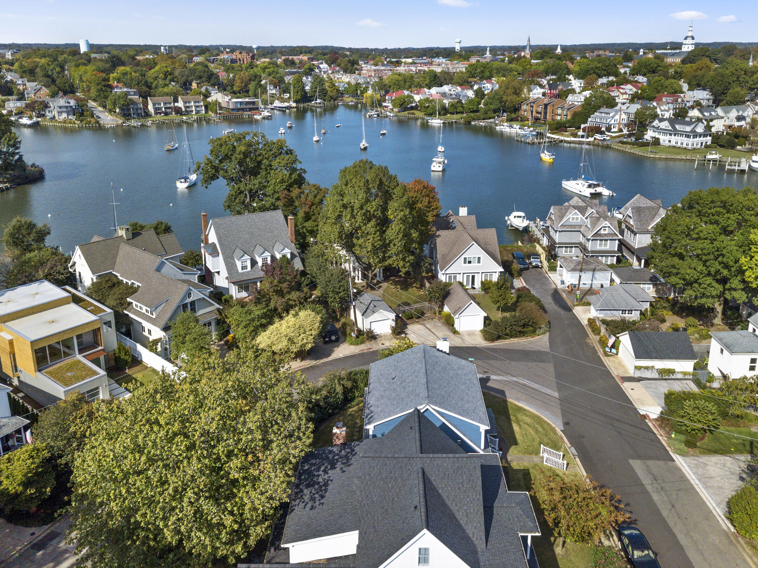 Spa Creek and Lockwood Court in the Annapolis community of Eastport.