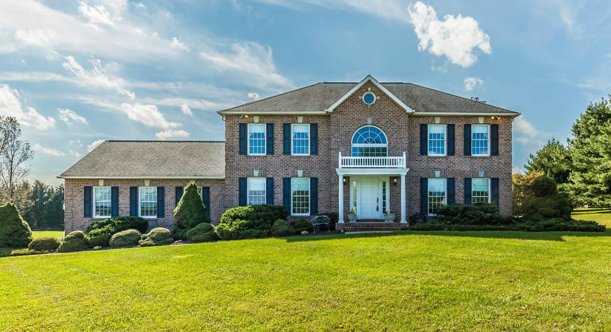 The new brick colonial in Sykesville, Maryland, purchased by Ed & Christine. The couple was represented by buyer's agent Jerry Kline, realtor, Keller Williams Flagship of Maryland.
