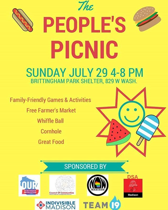 Come one, come all to the 2nd annual People's Picnic!!! Bring the family, bring extra garden bounty for the free farmer's market, bring an appetite... It's gonna be great!