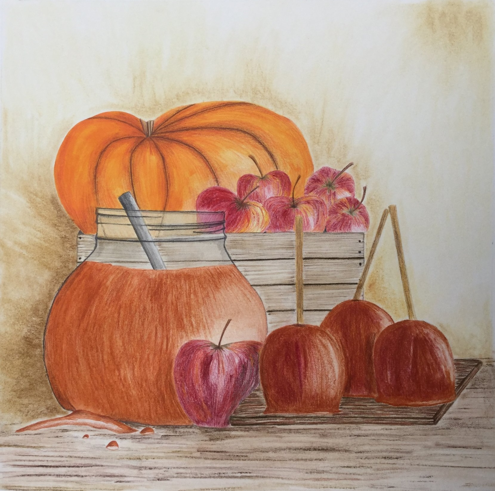 Autumn illustration by Briony Dixon