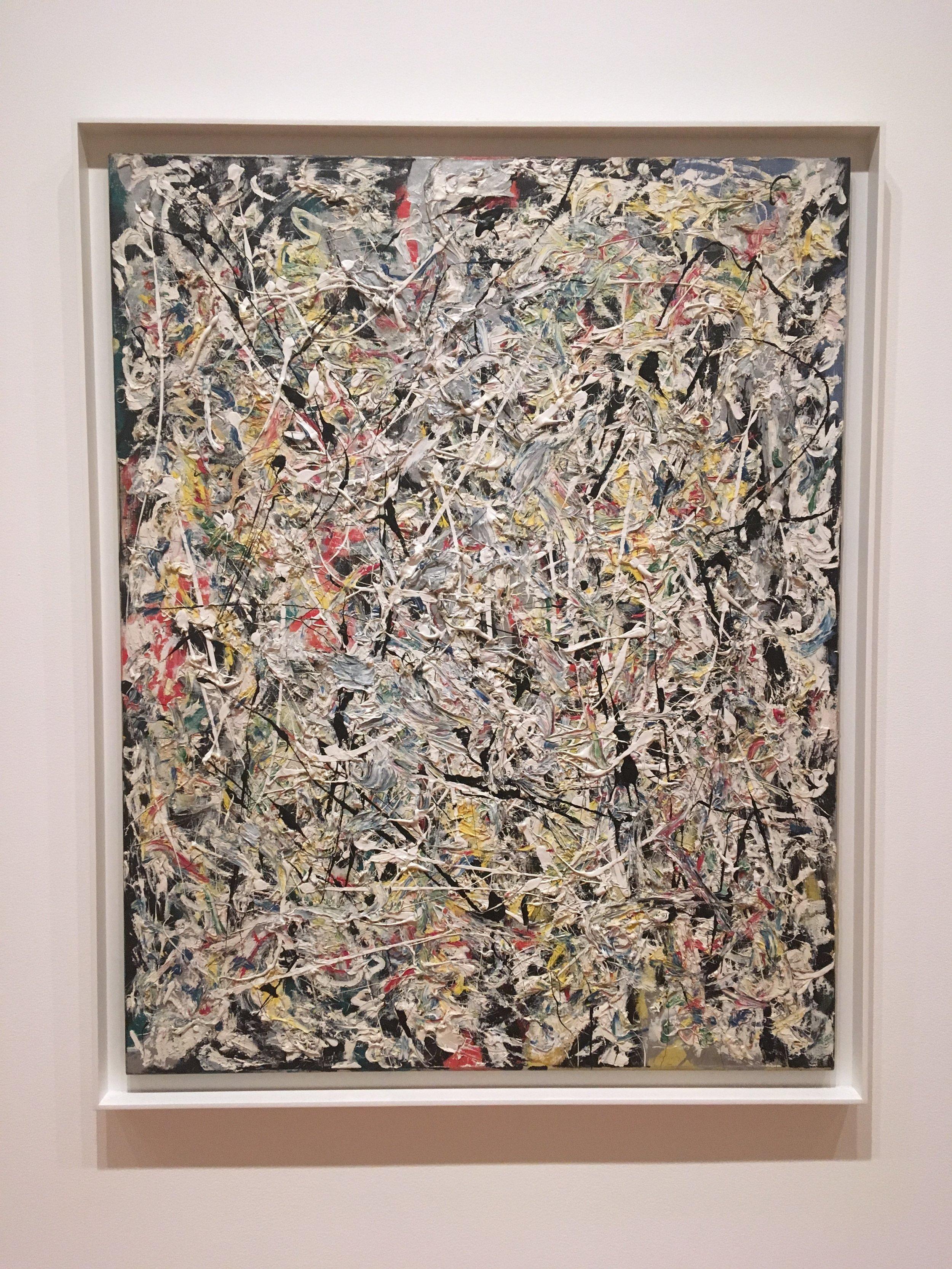 Jackson Pollock.  Moma.  NY.  Photo by Briony Dixon