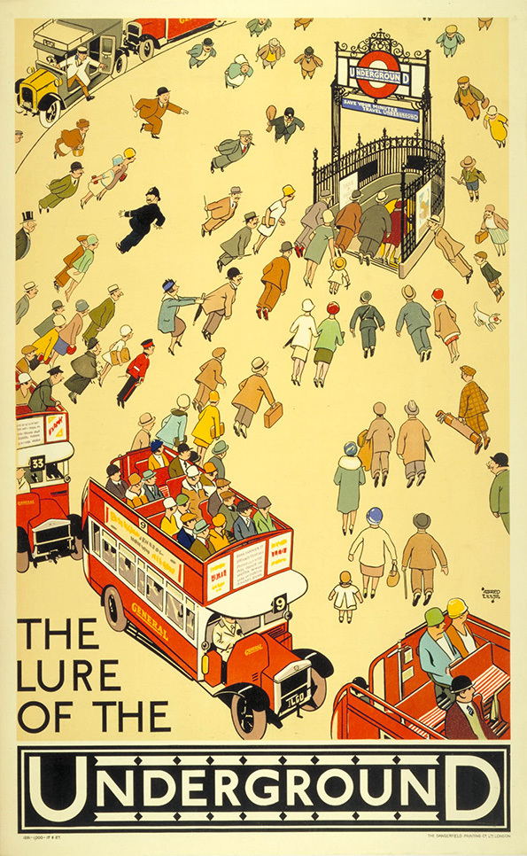 Alfred Leete.  The lure of the underground.  (1927)