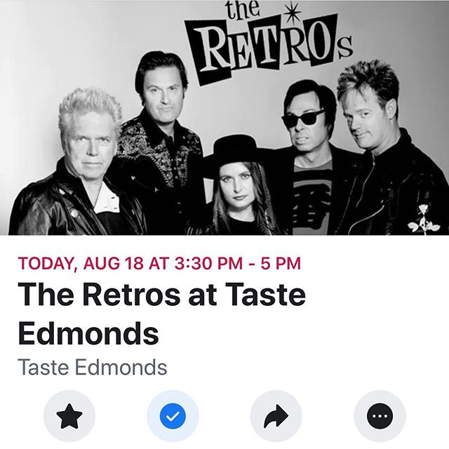 Taste of Edmonds @ 3:30!! #funinsun #theretros #tasteofedmonds #tasteofedmonton2019 #welovetheretros #livemusic #edmonds #itsanedmondskindofday #80smusic #80snewwave