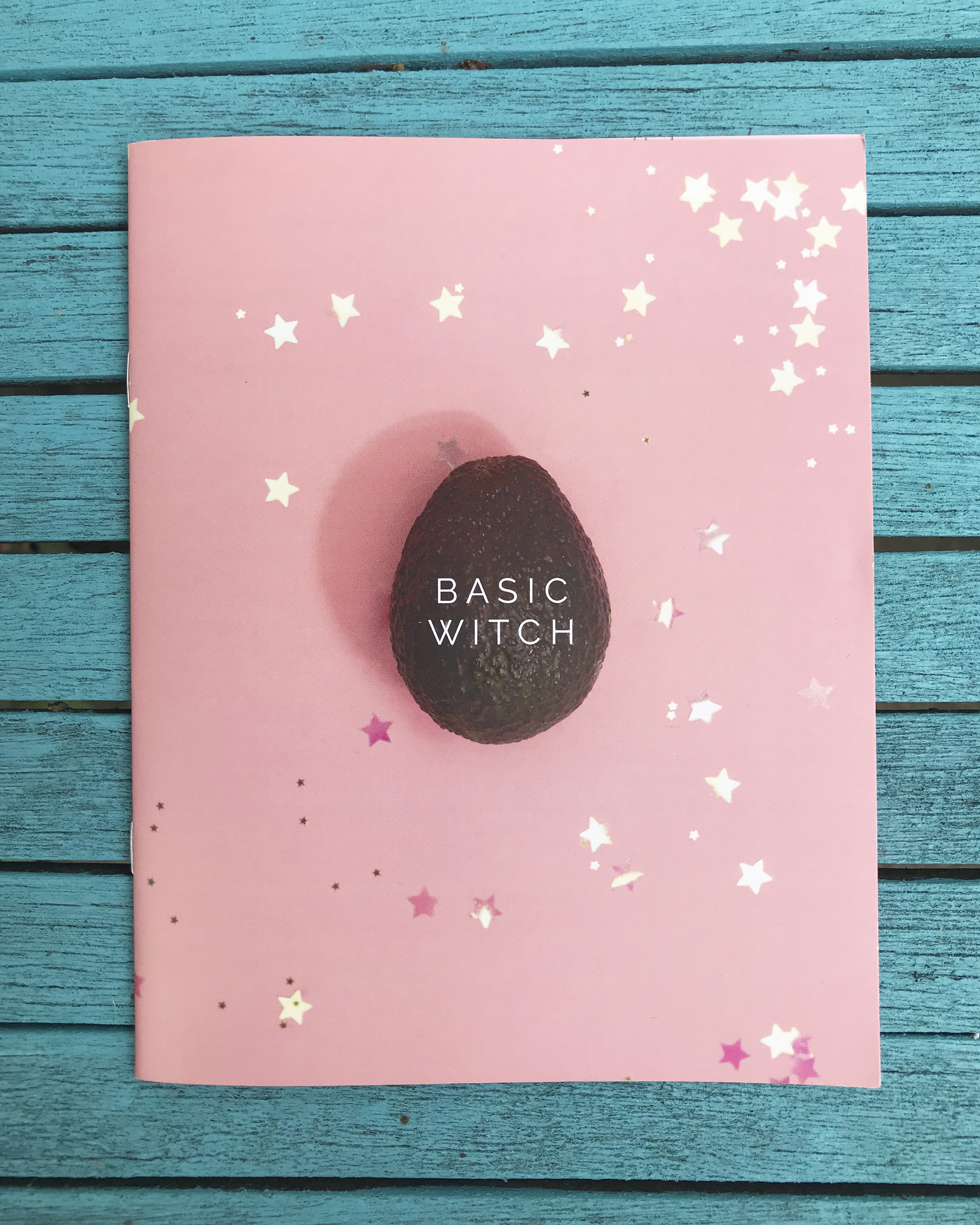 Basic Witch - Issue One   An essential spell-book for the modern witch, Basic Witch Zine is a satirical publication about witchcraft for the millennial hag on the go. Issue One offers advice on how to get revenge when a flakey friend stands you up for brunch, a guide to the most magical makeup applicators (dead man's finger anyone?) and how to tell if your pregnancy scare is in fact the spawn of Satan. Basic Witch is conjured up seasonally by Teän Roberts and Cormac Cleary.