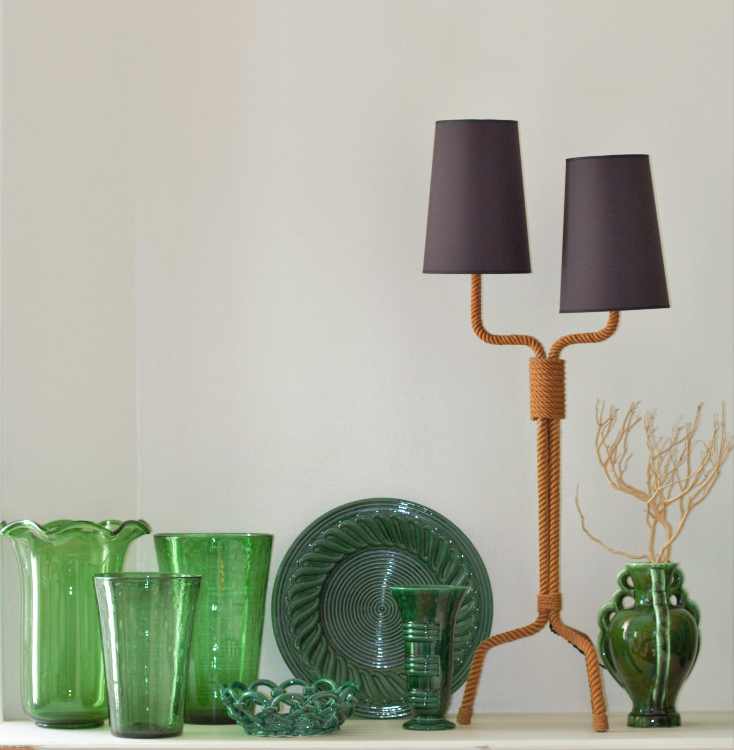 Lampe Audoux Minet et Céramiques vintage