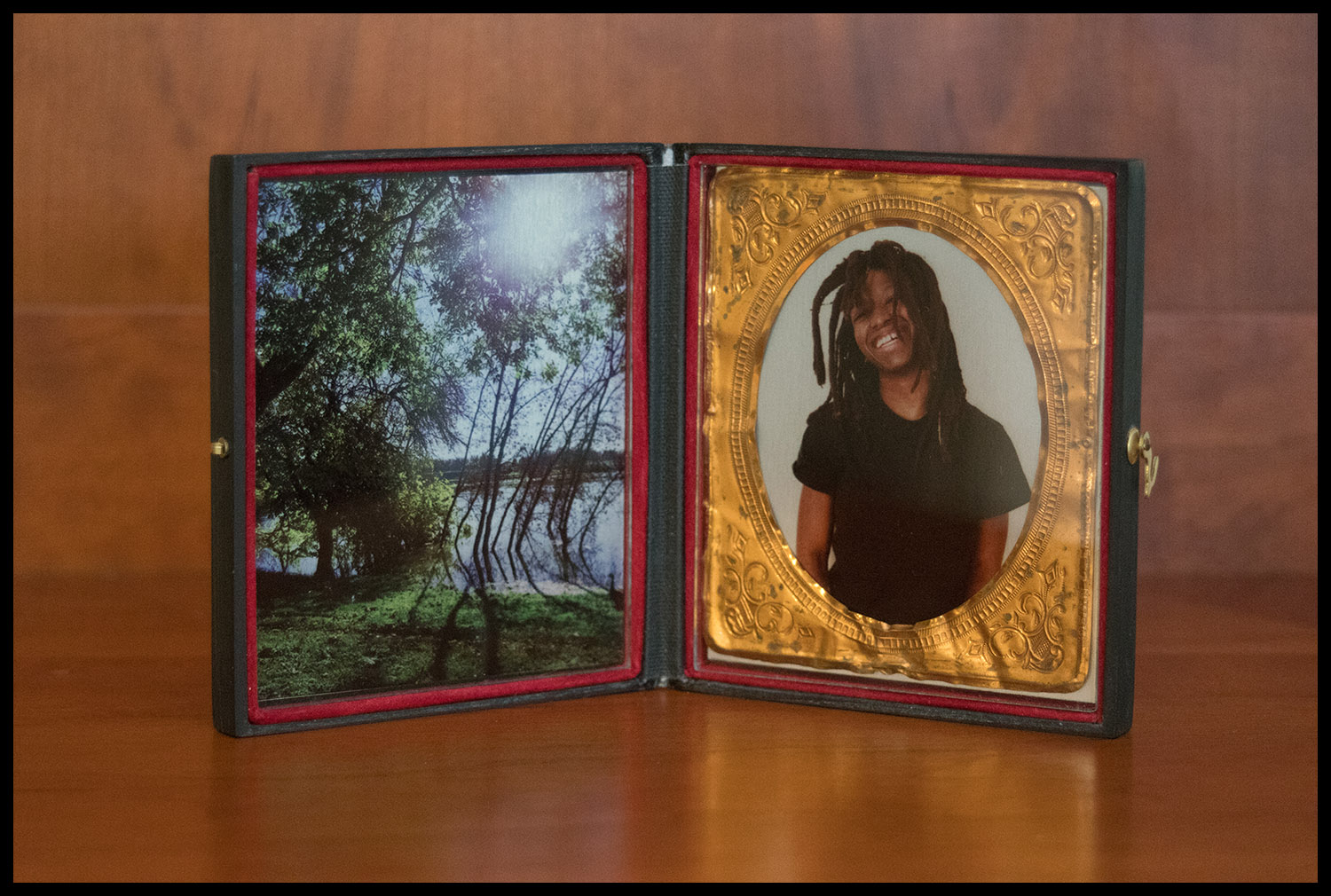 Precious and American River, Diptych Cased Image