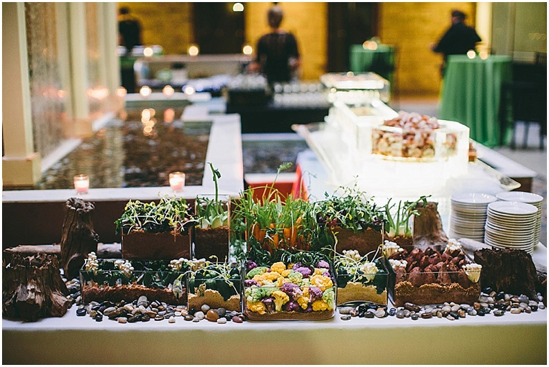 Organic wedding buffet tablescape