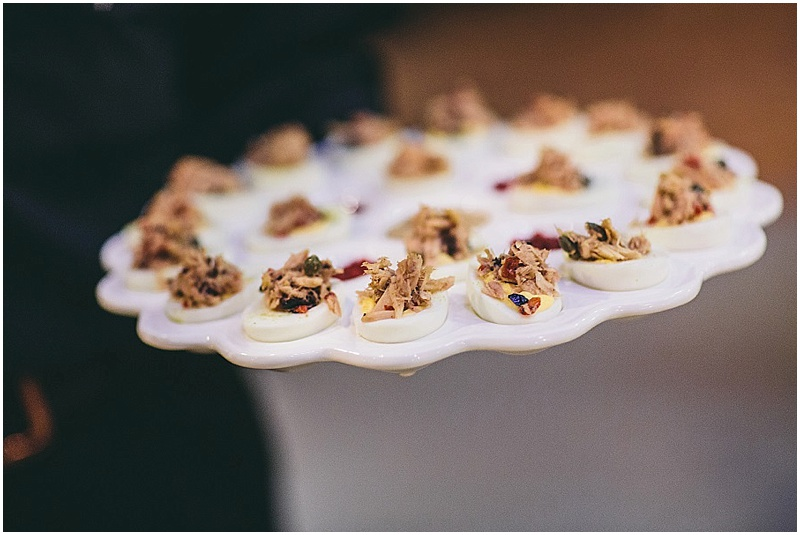 Gourmet deviled eggs - wedding appetizer