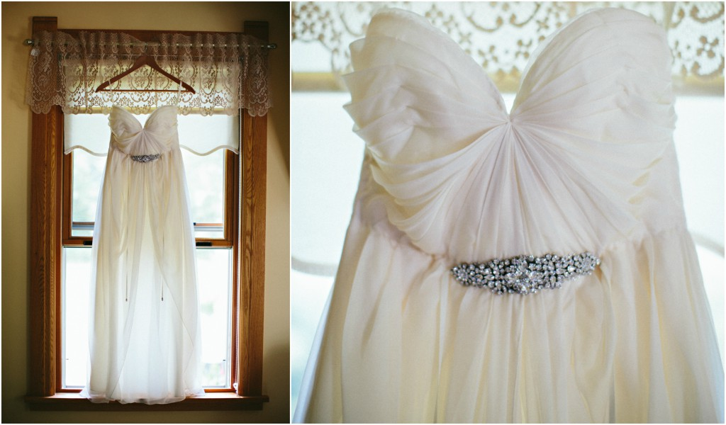 Wedding Dress with crystal belt