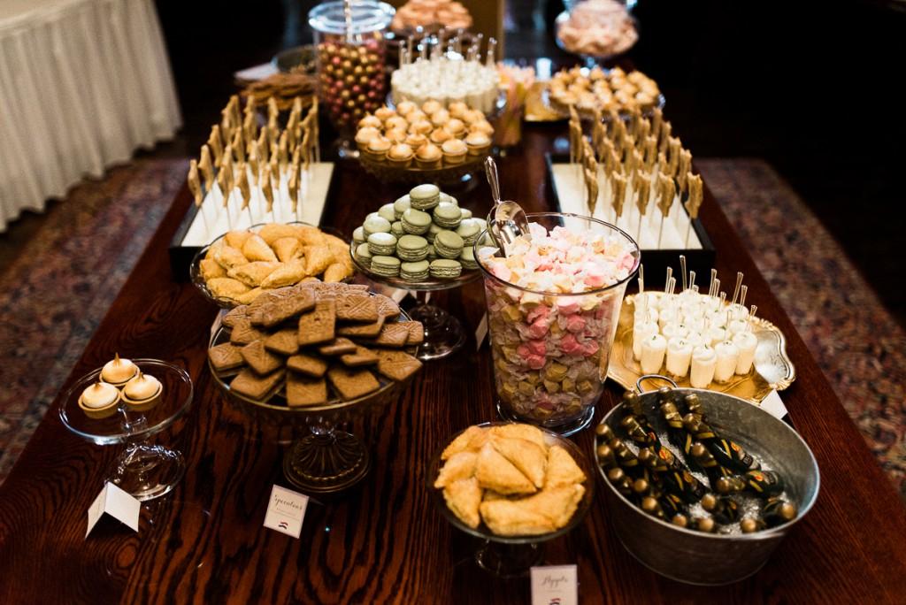 Candy display at wedding reception, Minneapolis Club