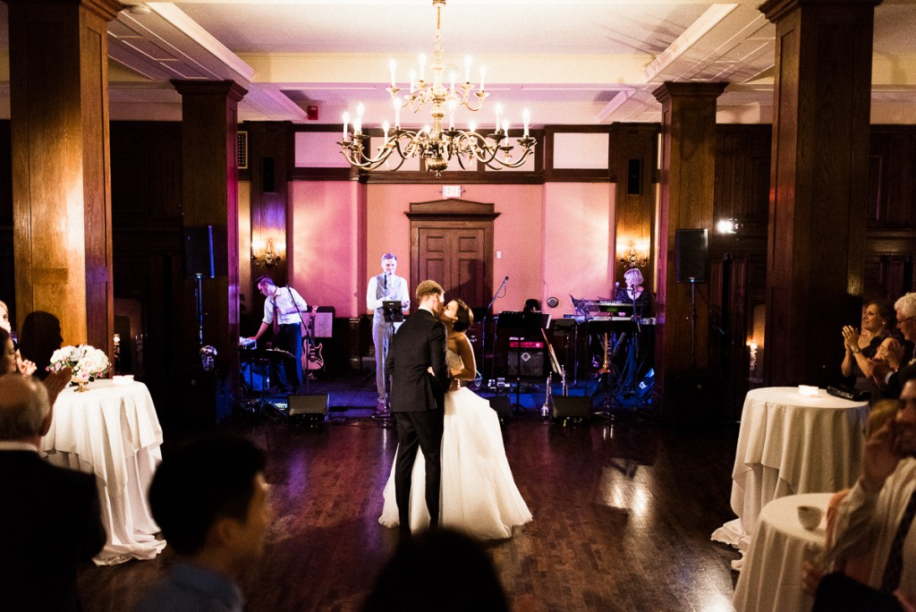 Bride and groom dancing during wedding reception at Minneapolis Club