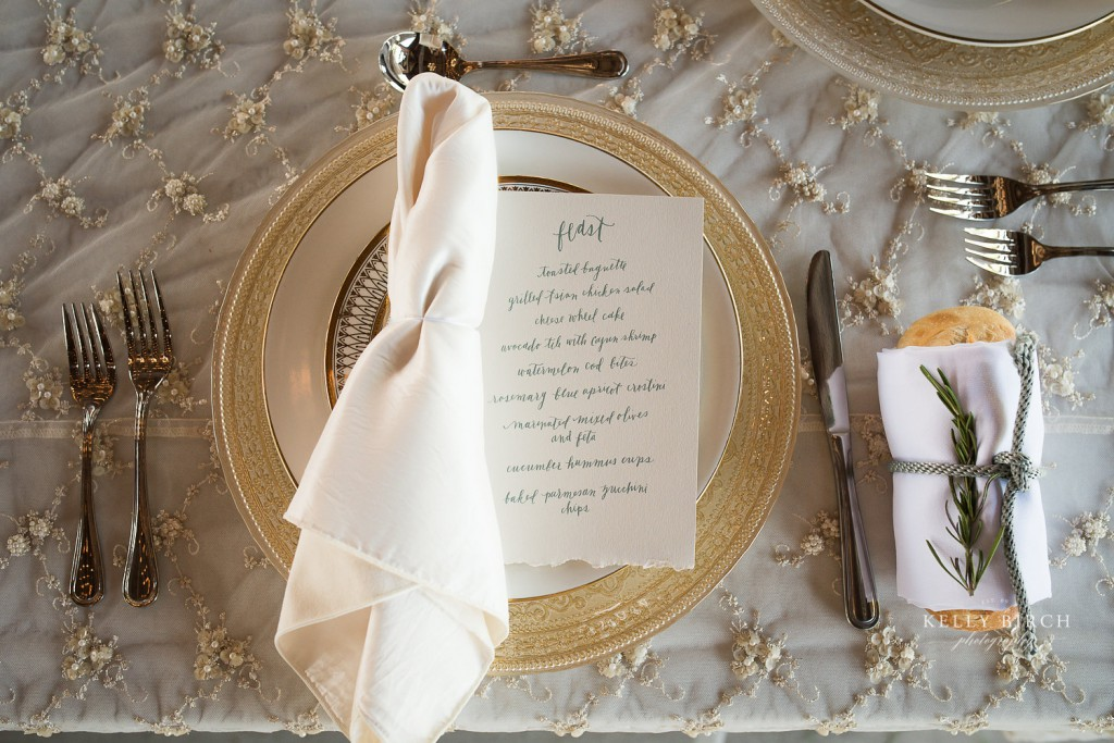 Rustic french inspired table setting at Historic Hope Glen Farm wedding