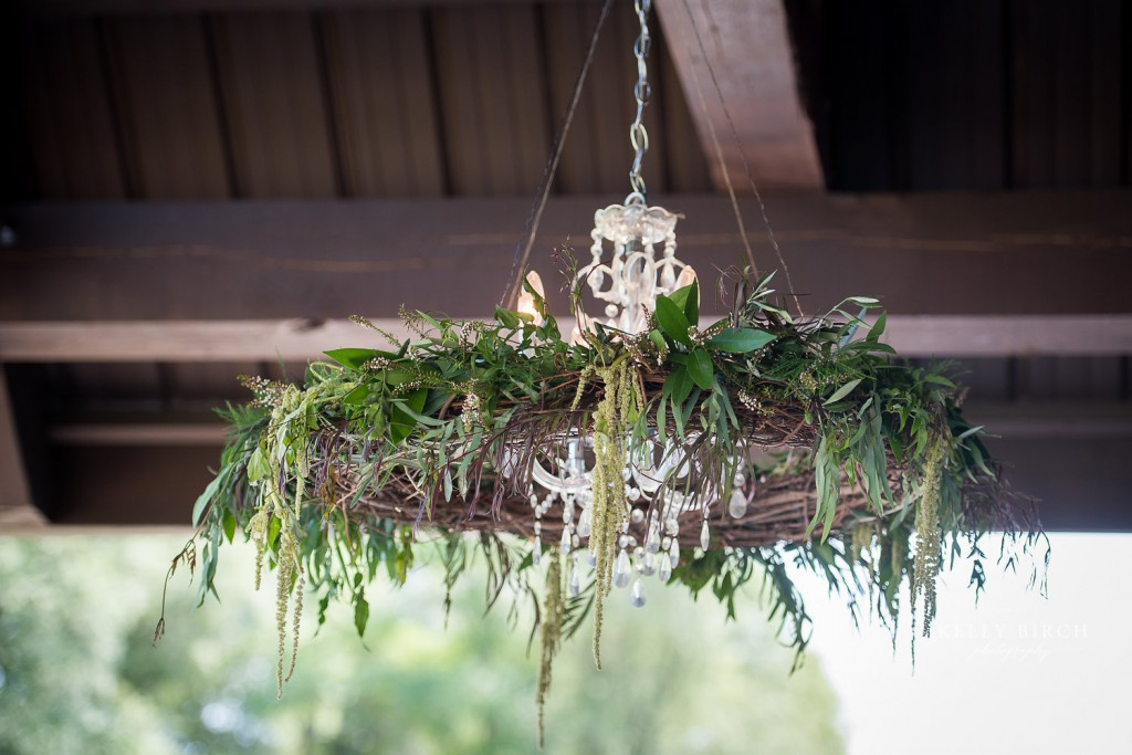 Rustic, bohemian Garland suspended from ceiling at Historic Hope Glen Farm