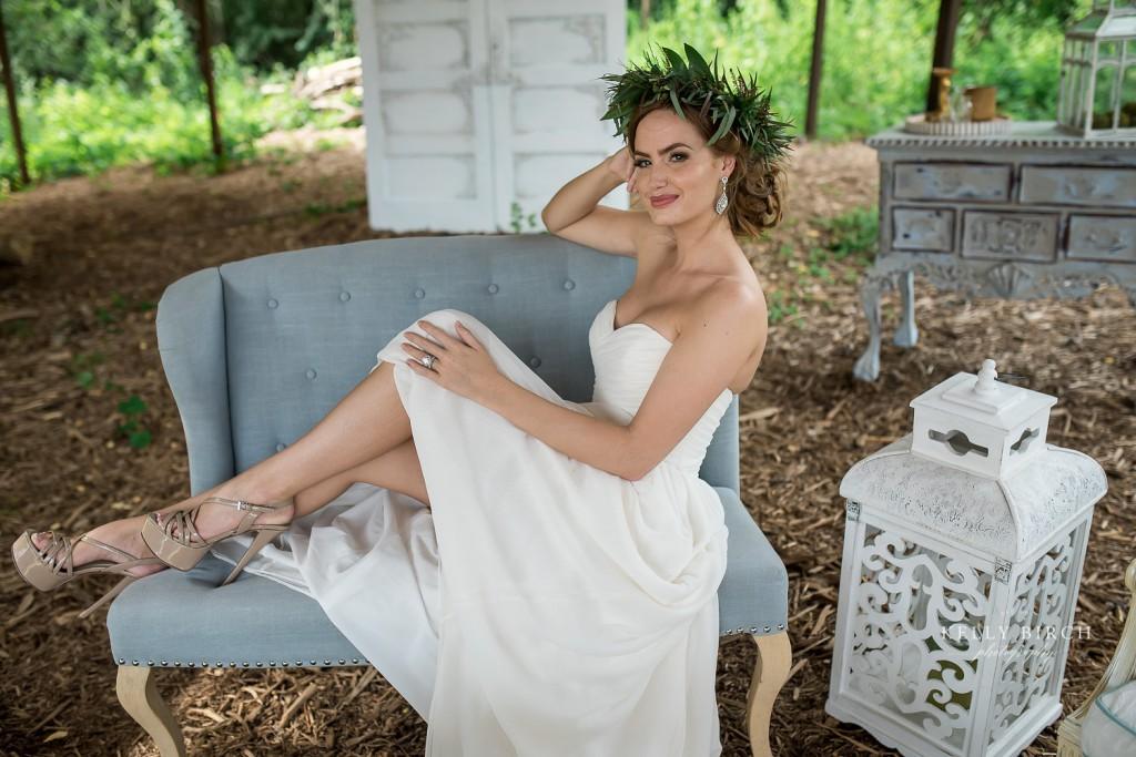 Bridal Portrait at Historic Hope Glen Farm