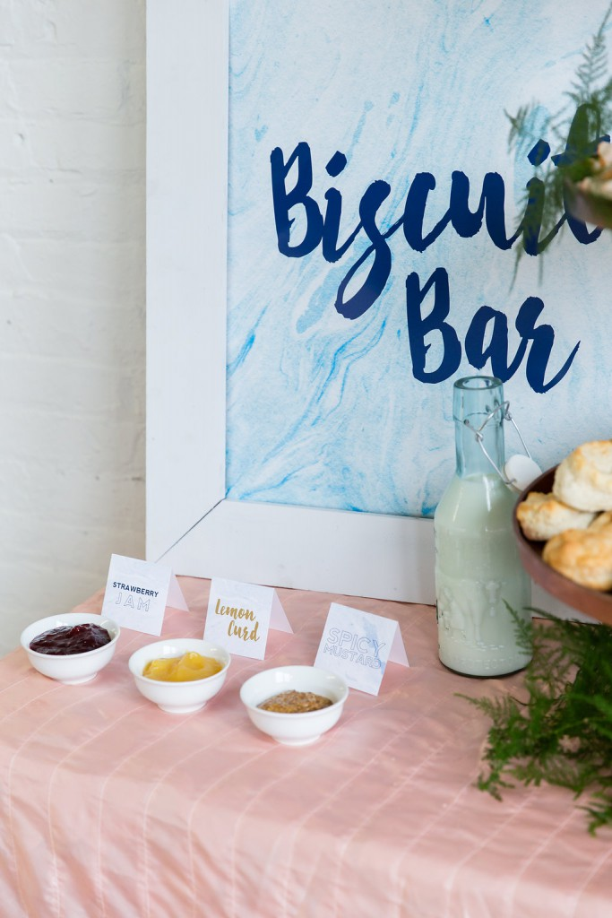 Wedding food, catering ideas. Biscuit Bar as seen in Dainty Obsessions