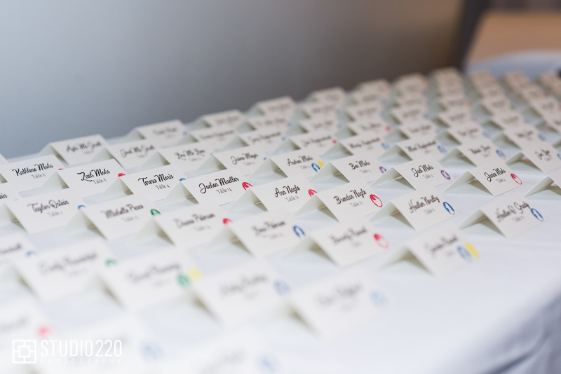 Placecards with menu selections