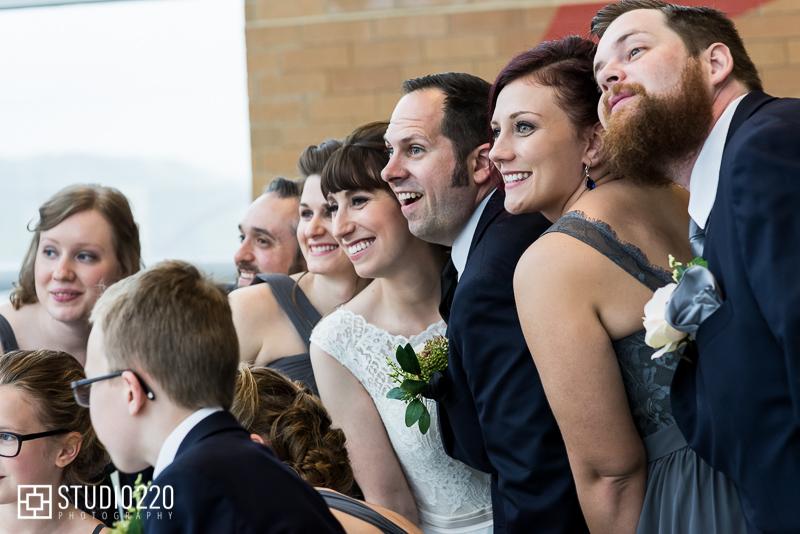 Wedding photos at Science Museum of Minnesota
