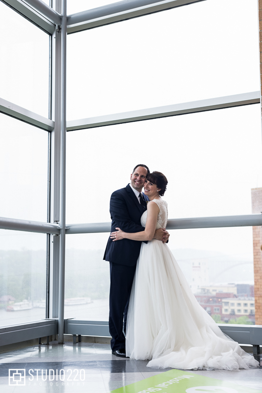 Newlyweds at Science Museum of Minnesota