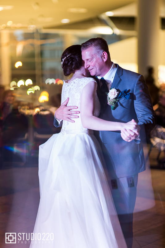 father daughter dance at Science Museum of Minnesota wedding