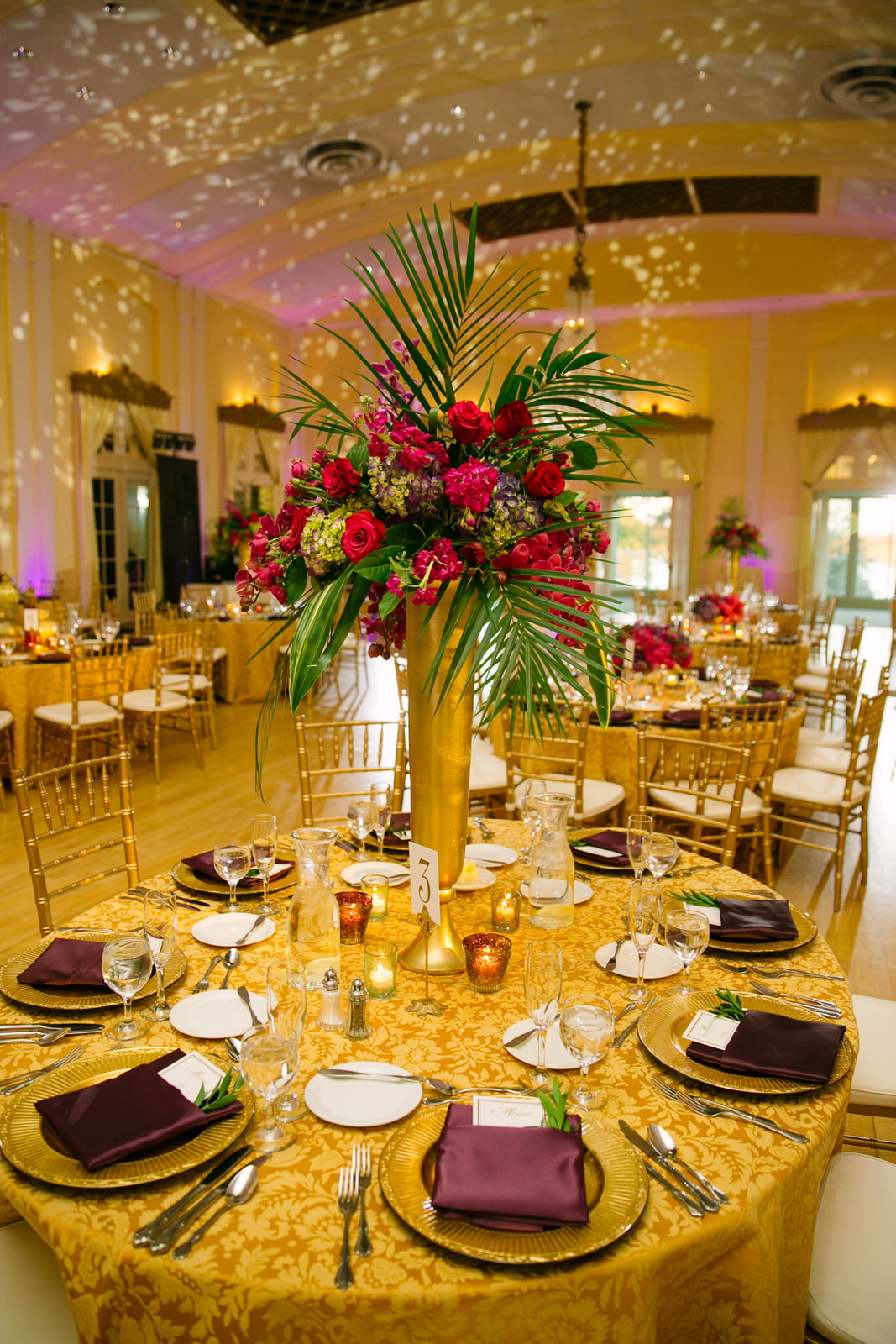 Wedding tablescape and centerpiece