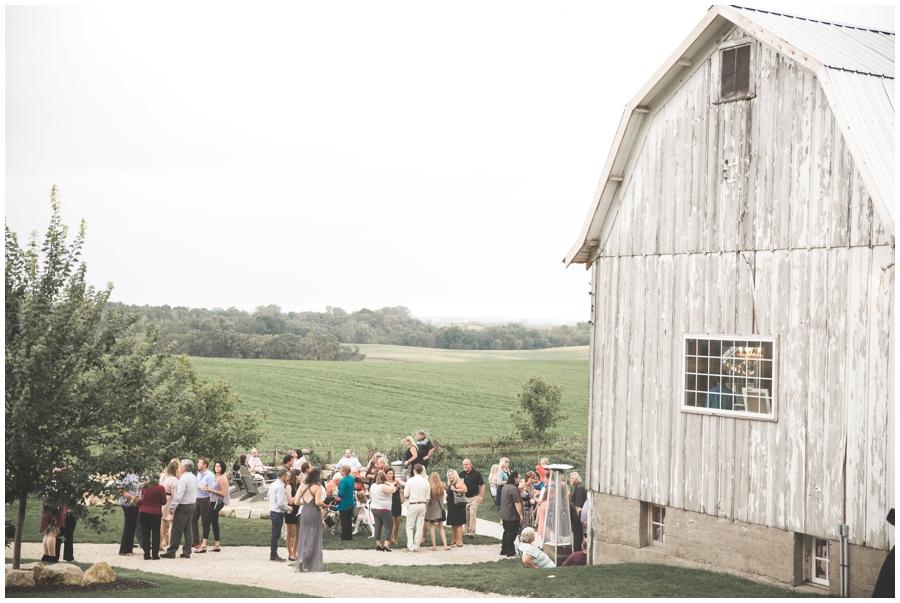 outdoor wedding in MN