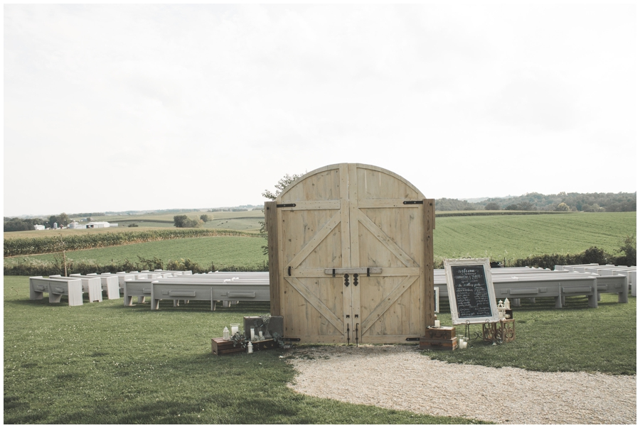 outdoor wedding ceremony doors