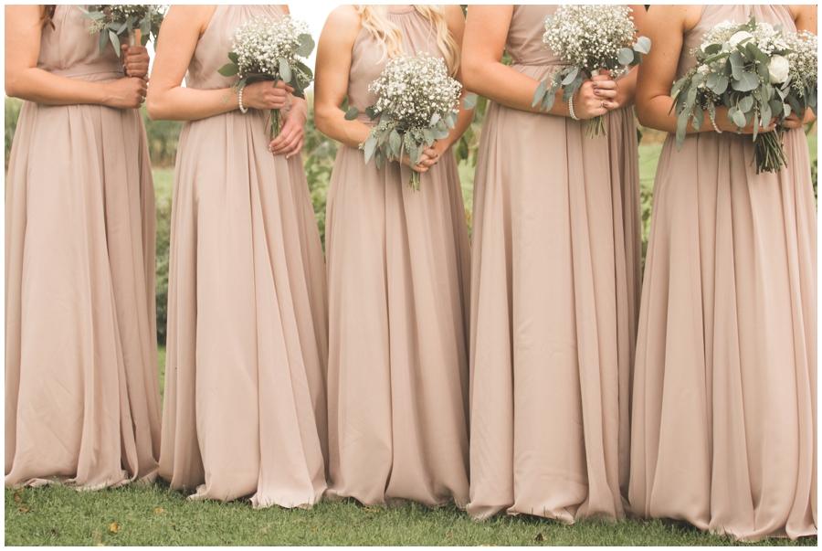 bridesmaids in peach dresses