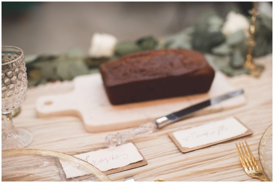 loaf of bread at wedding reception