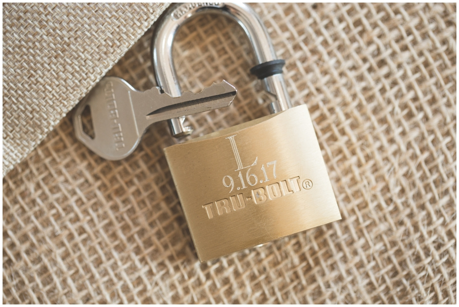 key and lock at wedding