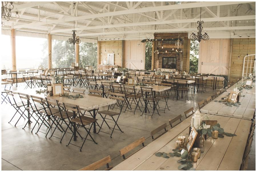 wedding reception at the Legacy Hill Farm