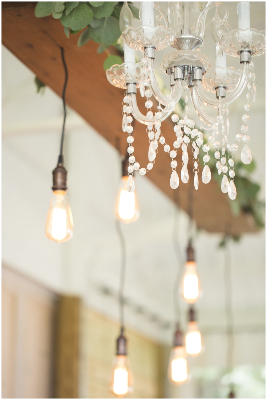 lamps and chandelier at MN wedding