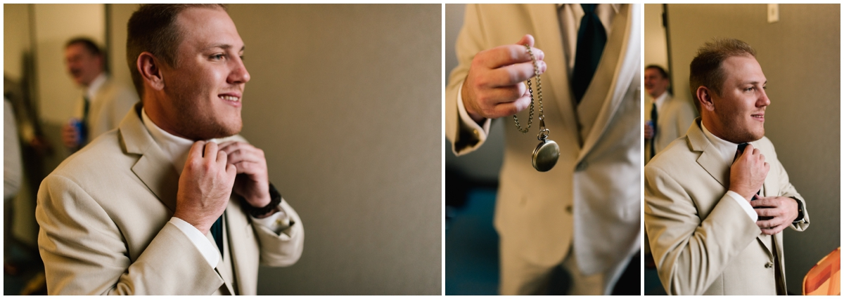 Groom getting prepped for his wedding