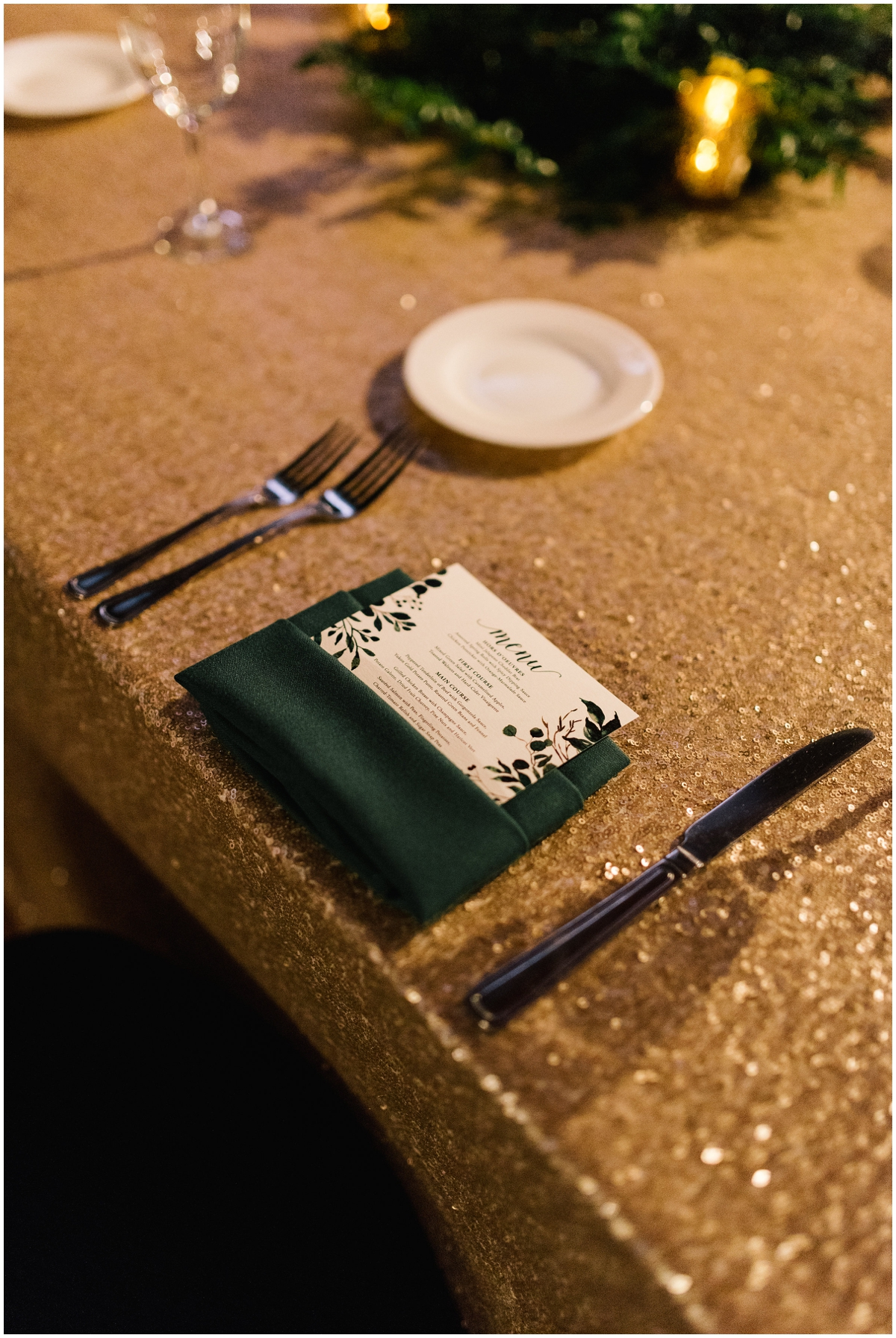 Greenery boho themed wedding tablescape