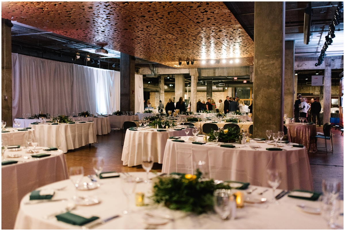 Greenery boho themed wedding at the Mill City Museum